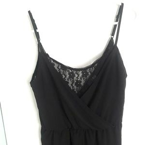 H&M Divided Black Lace Inset Romper Size Small